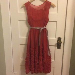 Silk Anthropologie dress size 4